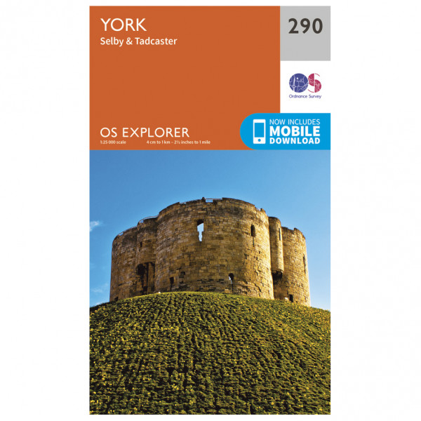 Ordnance Survey - York / Selby / Tadcaster - Hiking map