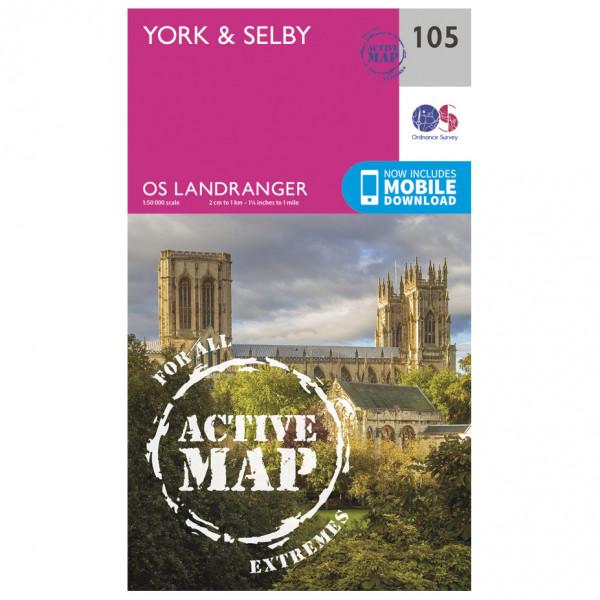 Ordnance Survey - York / Selby Waterproof LA105 - Wanderkarte