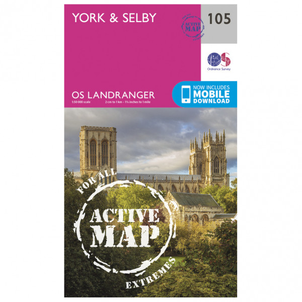 Ordnance Survey - York / Selby Waterproof - Vaelluskartat