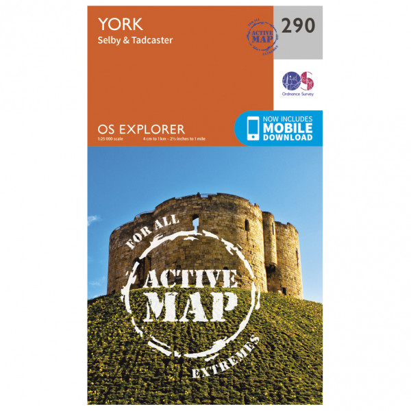Ordnance Survey - York Waterproof - Hiking map