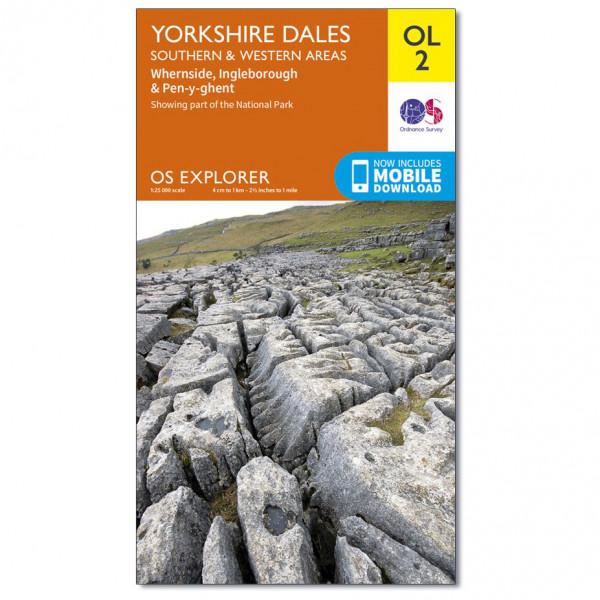Ordnance Survey - Yorkshire Dales - Southern & Western Areas Outdoor - Vaelluskartat