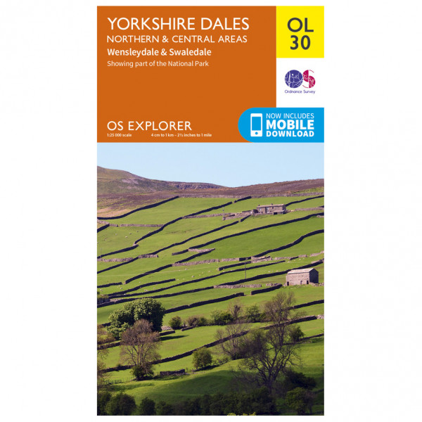 Ordnance Survey - Yorkshire Dales / Northern & Central Areas Outdoor - Hiking map