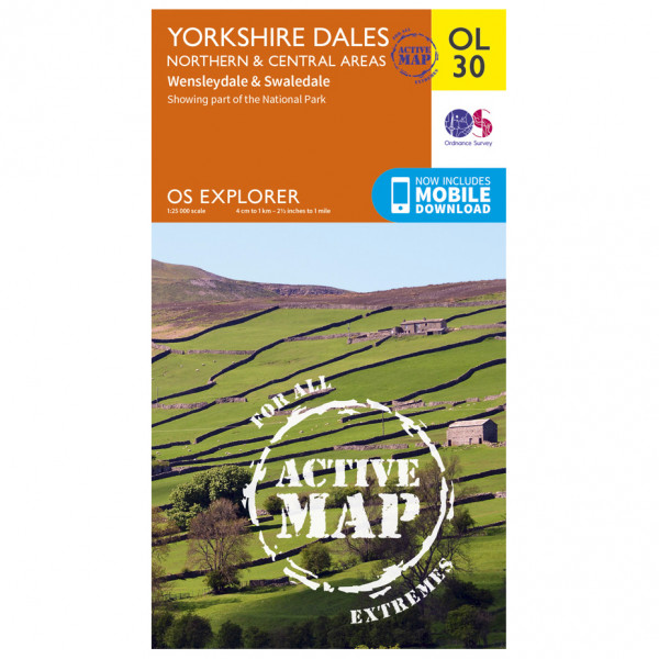 Ordnance Survey - Yorkshire Dales / Northern / Central Waterproof - Mapa de senderos