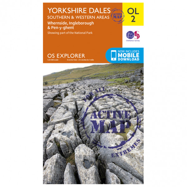 Ordnance Survey - Yorkshire Dales / Southern / Western Areas Waterproof - Hiking map