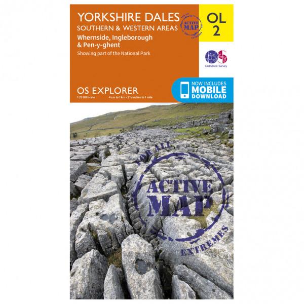 Ordnance Survey - Yorkshire Dales / Southern / Western Areas Waterproof - Wandelkaart
