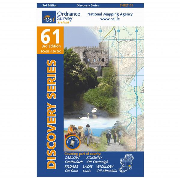 Ordnance Survey Ireland - Carlow / Kildare / Kilkenny / Laois / Wicklow - Hiking map