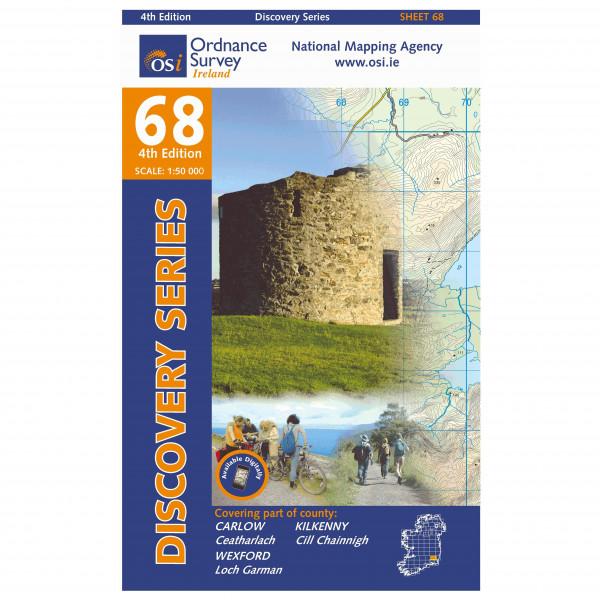 Ordnance Survey Ireland - Carlow / Kilkenny / Wexford - Mapa de senderos