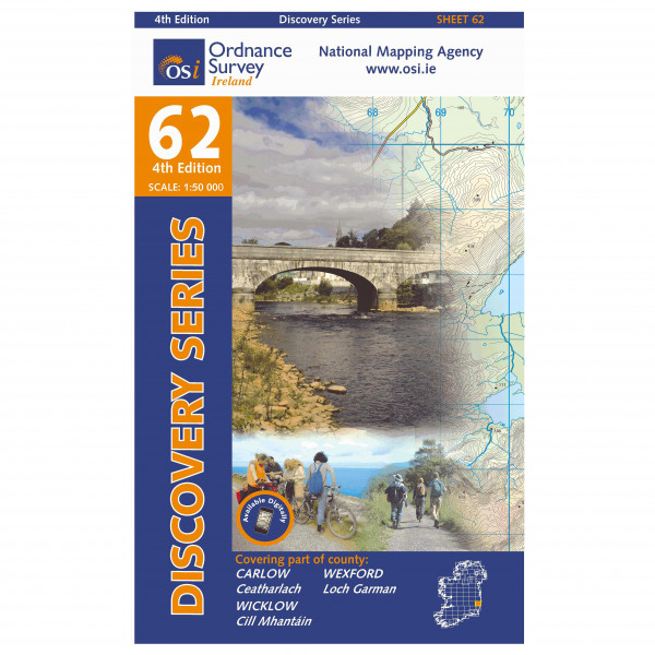 Ordnance Survey Ireland - Carlow / Wexford / Wicklow - Wandelkaart