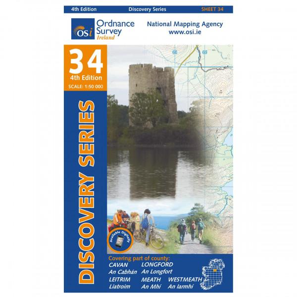 Ordnance Survey Ireland - Cavan / Leitrim / Longford / Westmeath - Vandringskartor