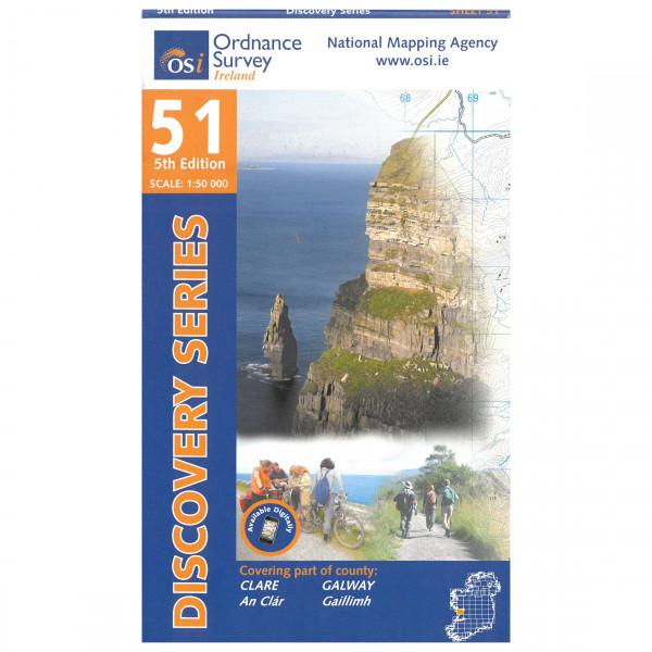 Ordnance Survey Ireland - Clare / Galway - Mapa de senderos
