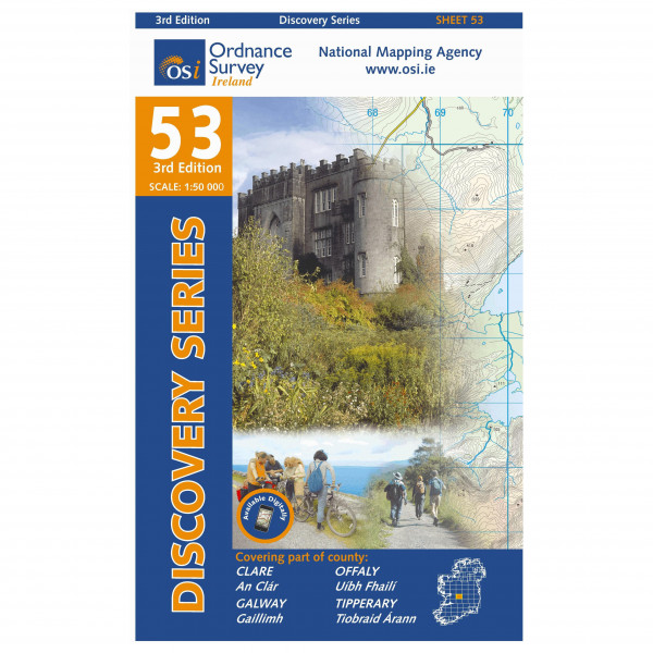 Ordnance Survey Ireland - Clare / Galway / Offaly / Tipperary - Hiking map