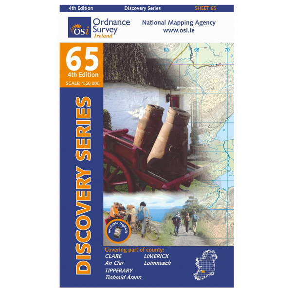 Ordnance Survey Ireland - Clare / Limerick / Tipperary - Wanderkarte