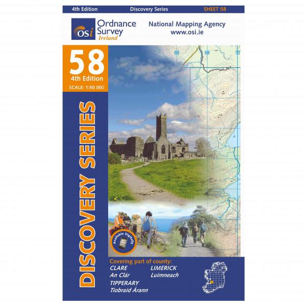 Ordnance Survey Ireland - Clare / Limerick / Tipperary I - Mapa de senderos