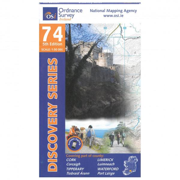Ordnance Survey Ireland - Cork / Limerick / Tipperary / Waterford - Vandrekort