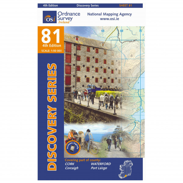 Ordnance Survey Ireland - Cork / Waterford - Wandelkaarten