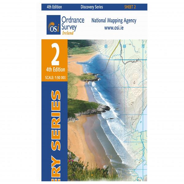 Ordnance Survey Ireland - Donegal (N Cent) - Wandelkaarten