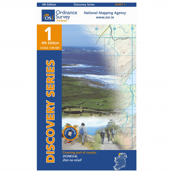 Ordnance Survey Ireland - Donegal (Nw) - Vandrekort