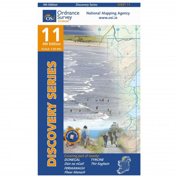 Ordnance Survey Ireland - Donegal (S) - Vandrekort