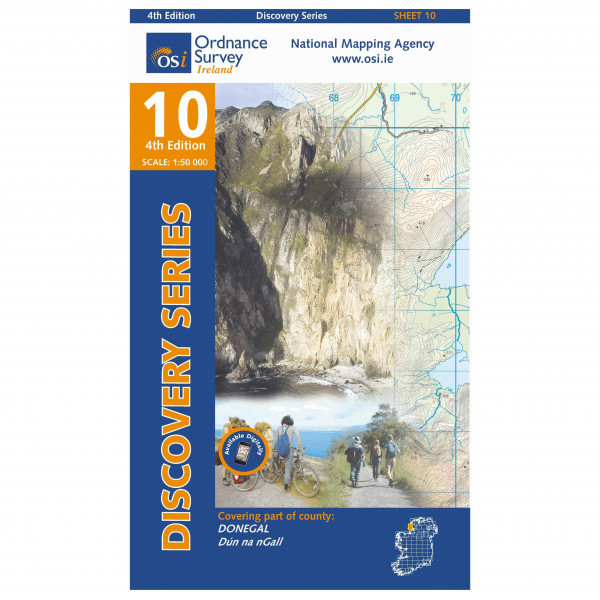 Ordnance Survey Ireland - Donegal (Sw) - Hiking map