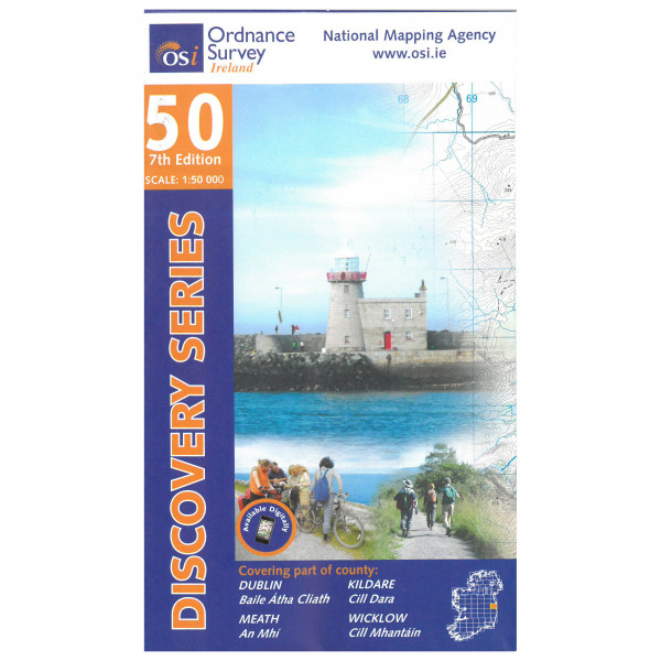 Ordnance Survey Ireland - Dublin / Kildare / Meath / Wicklow - Wanderkarte