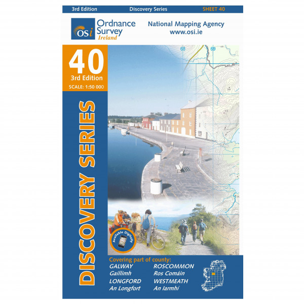 Ordnance Survey Ireland - Galway / Longford / Roscommon / Westmeath - Vandrekort