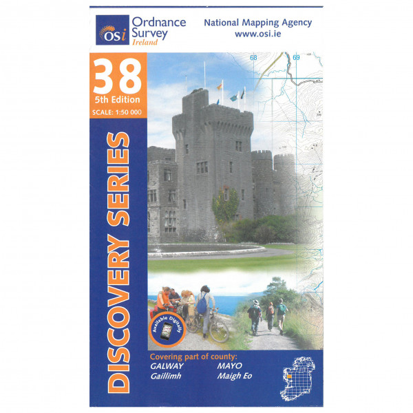 Ordnance Survey Ireland - Galway / Mayo (S Cent) - Hiking map