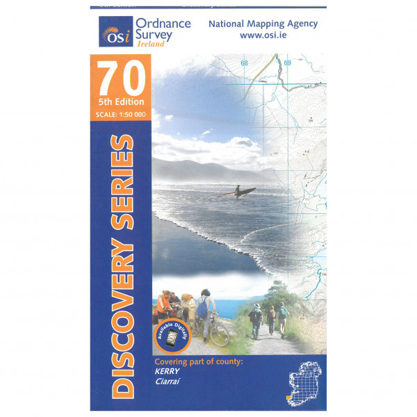 Ordnance Survey Ireland - Kerry (Dingle) - Mapa de senderos
