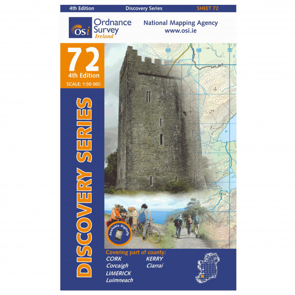 Ordnance Survey Ireland - Kerry / Cork / Limerick - Hiking map