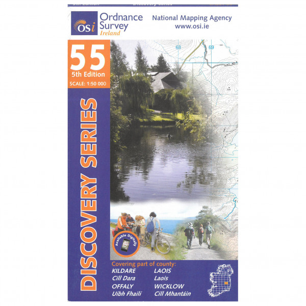 Ordnance Survey Ireland - Kildare / Laois / Wicklow - Vandrekort