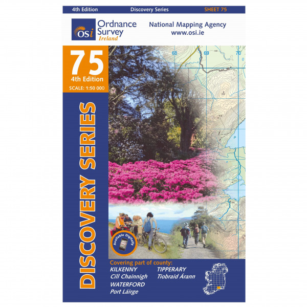 Ordnance Survey Ireland - Kilkenny /Tipperary / Waterford North - Hiking map