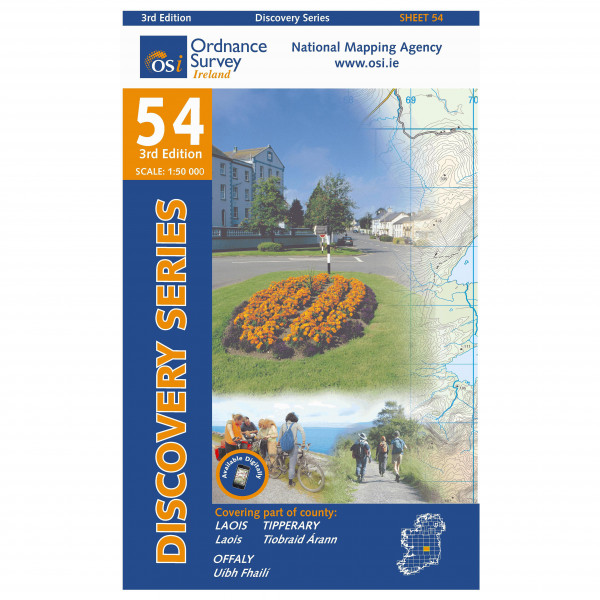 Ordnance Survey Ireland - Laois / Offaly / Tipperary - Vandrekort