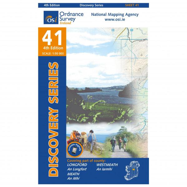 Ordnance Survey Ireland - Longford / Meath / Westmeath - Vandrekort