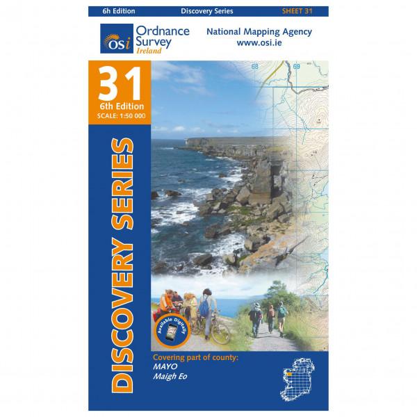 Ordnance Survey Ireland - Mayo (Cent) - Vandrekort
