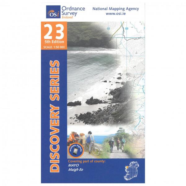 Ordnance Survey Ireland - Mayo I - Vandrekort