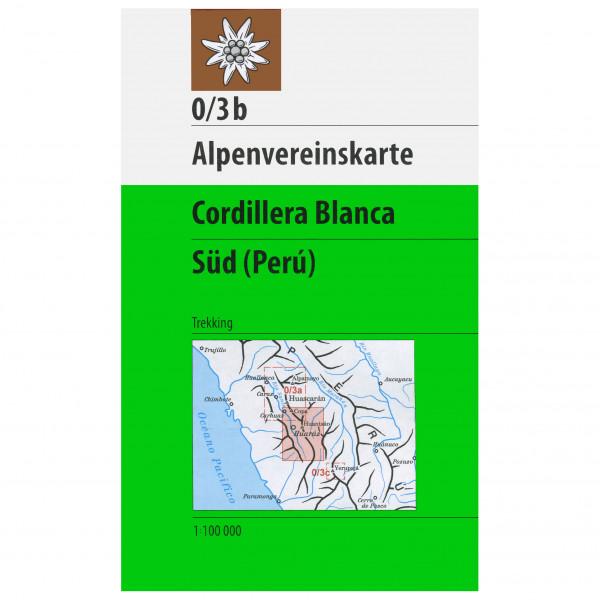 DAV - 0/3b Cordillera Blanca Süd - Vandrekort