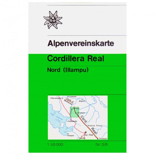 DAV - 0/8 Cordillera Real Nord - Wanderkarte