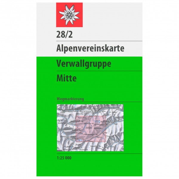 DAV - 28/2 Verwallgruppe - Vaelluskartat