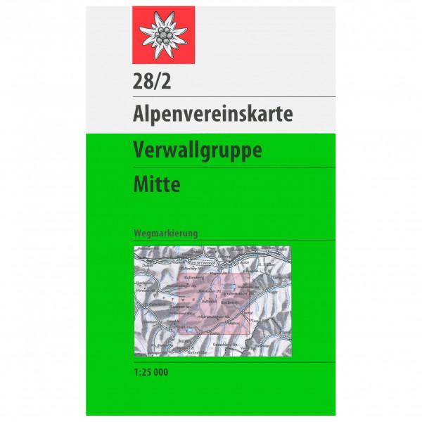 DAV - 28/2 Verwallgruppe - Vandringskartor