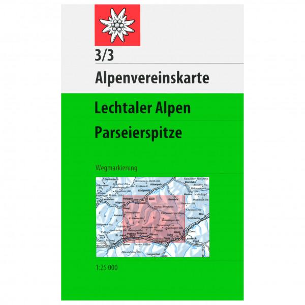 DAV - 3/3 Lechtal Parseierspitze - Vaelluskartat