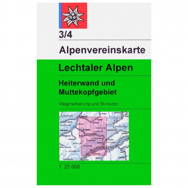 DAV - 3/4 Lechtal Heiterwand - Wandelkaarten