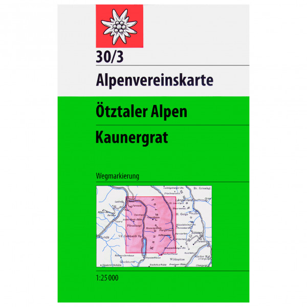 DAV - 30/3 Ötztal Kaunergrat - Hiking map