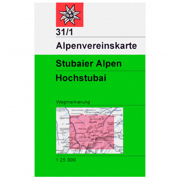 DAV - 31/1 Stubaier A. Hochstubai - Wandelkaart