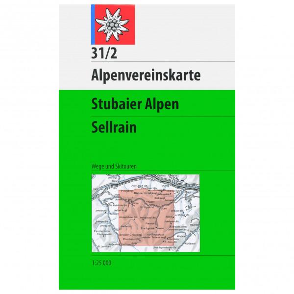 DAV - 31/2 Stubaier A. Sellrain - Vandringskartor