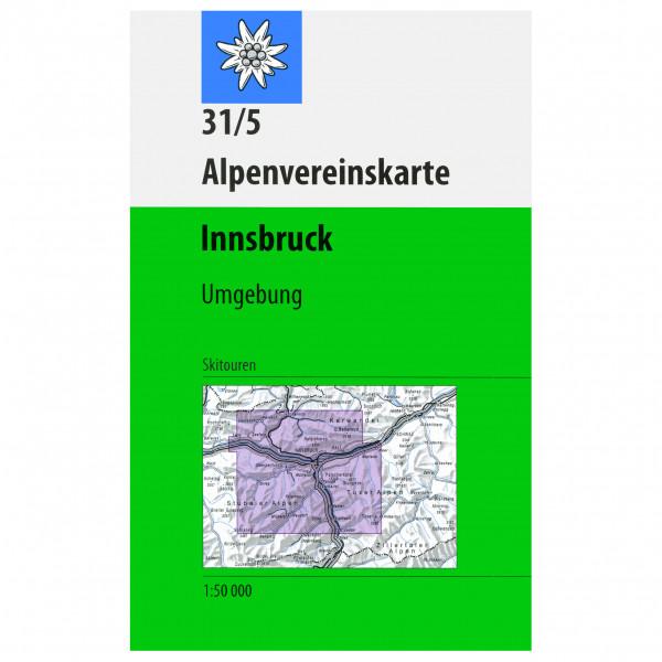 DAV - 31/5 SKI Innsbruck - Hiking map