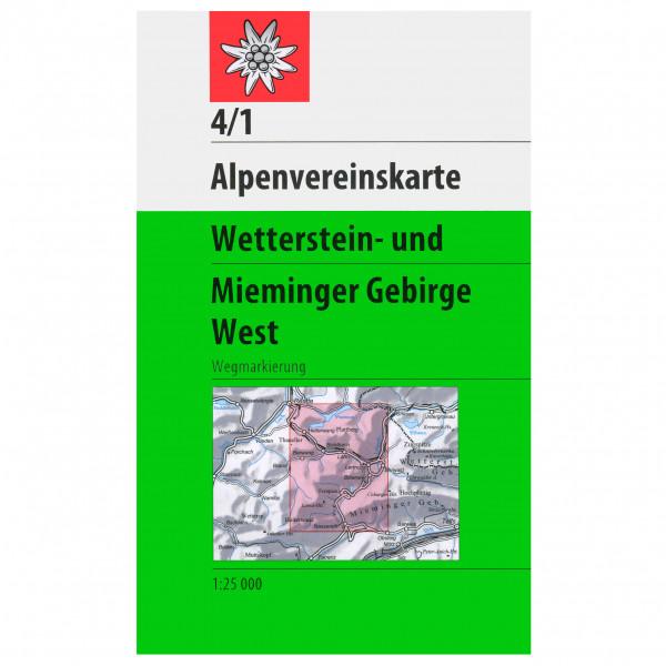DAV - 4/1 Wetterstein  West - Wandelkaarten