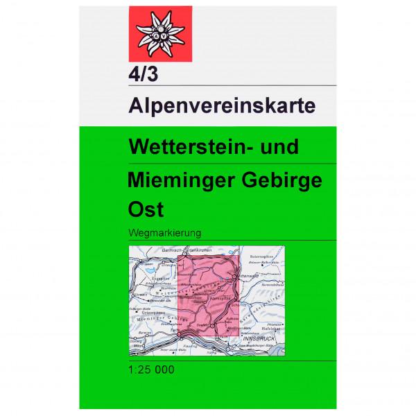 DAV - 4/3 Wetterstein  Ost - Hiking map