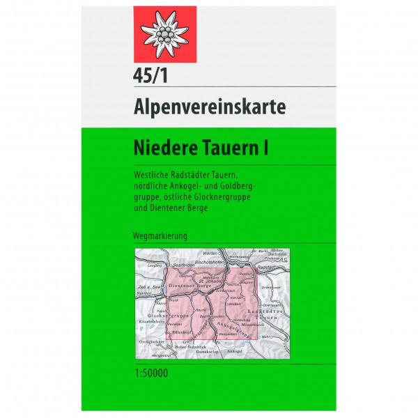 DAV - 45/1 Niedere Tauern I - Wandelkaarten