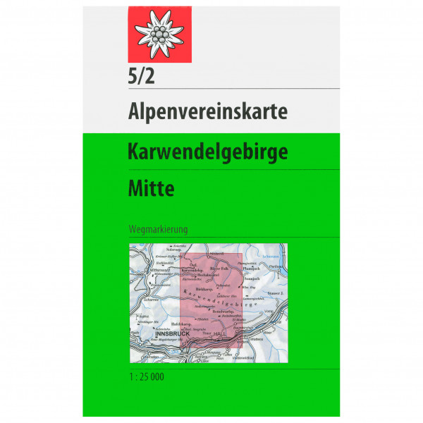 DAV - 5/2 Karwendelgeb. Mitte - Vaelluskartat