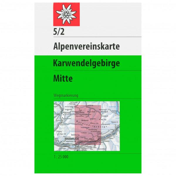 DAV - 5/2 Karwendelgeb. Mitte - Wandelkaarten