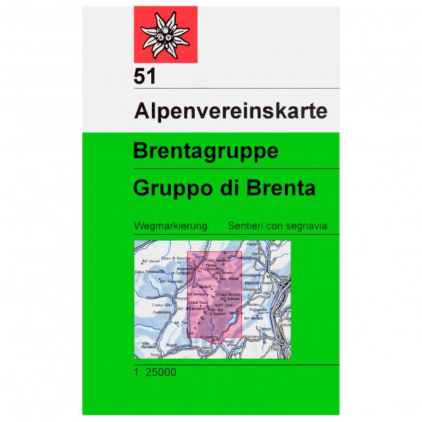 DAV - 51 Brentagruppe - Wandelkaart